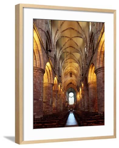 Interior of St. Magnus Cathedral, Kirkwall, Mainland, Orkney Islands, Scotland, UK-Patrick Dieudonne-Framed Art Print