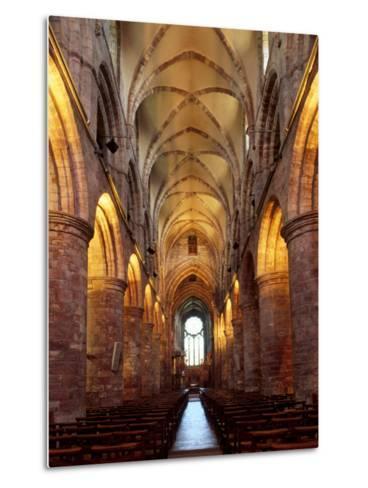 Interior of St. Magnus Cathedral, Kirkwall, Mainland, Orkney Islands, Scotland, UK-Patrick Dieudonne-Metal Print