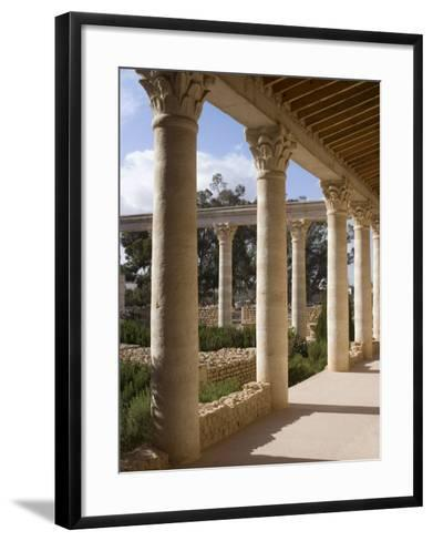 Reconstruction of the House of Africa Roman Villa, Museum, El Djem, Tunisia, North Africa, Africa-Ethel Davies-Framed Art Print