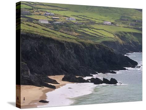 Rocky Coast and Beach, Slea Head, Dingle Peninsula, County Kerry, Munster, Republic of Ireland-Patrick Dieudonne-Stretched Canvas Print
