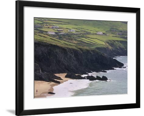 Rocky Coast and Beach, Slea Head, Dingle Peninsula, County Kerry, Munster, Republic of Ireland-Patrick Dieudonne-Framed Art Print