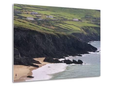 Rocky Coast and Beach, Slea Head, Dingle Peninsula, County Kerry, Munster, Republic of Ireland-Patrick Dieudonne-Metal Print