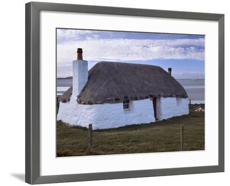Thatched House, Berneray, North Uist, Outer Hebrides, Scotland, United Kingdom, Europe-Patrick Dieudonne-Framed Art Print