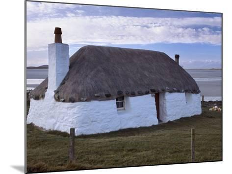 Thatched House, Berneray, North Uist, Outer Hebrides, Scotland, United Kingdom, Europe-Patrick Dieudonne-Mounted Photographic Print