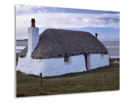 Thatched House, Berneray, North Uist, Outer Hebrides, Scotland, United Kingdom, Europe-Patrick Dieudonne-Metal Print