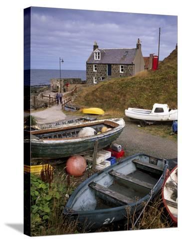 Crovie, Tiny Fishing Village, North Coast, Aberdeenshire, Scotland, United Kingdom, Europe-Patrick Dieudonne-Stretched Canvas Print