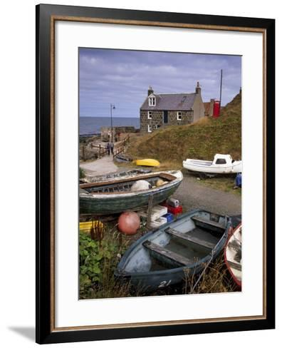 Crovie, Tiny Fishing Village, North Coast, Aberdeenshire, Scotland, United Kingdom, Europe-Patrick Dieudonne-Framed Art Print