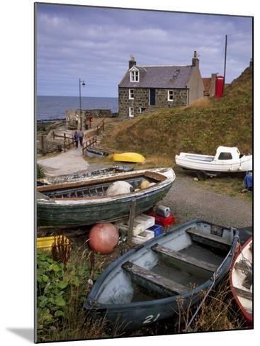 Crovie, Tiny Fishing Village, North Coast, Aberdeenshire, Scotland, United Kingdom, Europe-Patrick Dieudonne-Mounted Photographic Print
