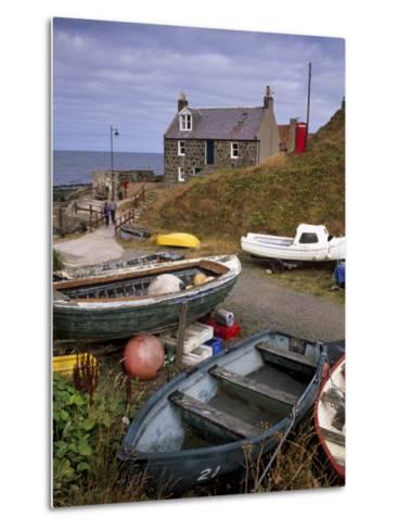 Crovie, Tiny Fishing Village, North Coast, Aberdeenshire, Scotland, United Kingdom, Europe-Patrick Dieudonne-Metal Print