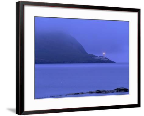 Bressay Lighthouse, Kirkabister Ness, Bressay, Shetland Islands, Scotland, United Kingdom, Europe-Patrick Dieudonne-Framed Art Print
