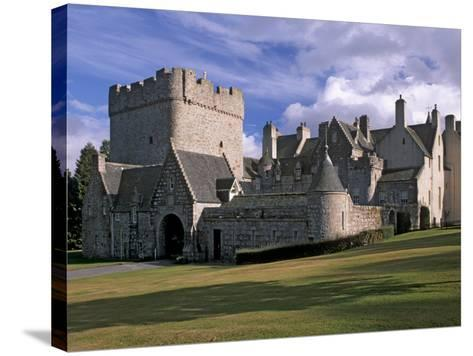 Drum Castle, with a 13th Century Keep, Near Peterculter, Aberdeenshire, Scotland, UK-Patrick Dieudonne-Stretched Canvas Print