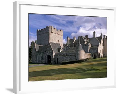 Drum Castle, with a 13th Century Keep, Near Peterculter, Aberdeenshire, Scotland, UK-Patrick Dieudonne-Framed Art Print