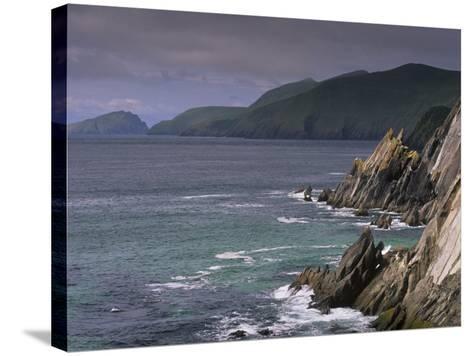Slea Head, and Blasket Islands, Dingle Peninsula, County Kerry, Munster, Republic of Ireland-Patrick Dieudonne-Stretched Canvas Print