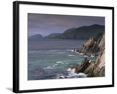 Slea Head, and Blasket Islands, Dingle Peninsula, County Kerry, Munster, Republic of Ireland-Patrick Dieudonne-Framed Art Print