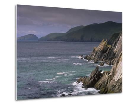 Slea Head, and Blasket Islands, Dingle Peninsula, County Kerry, Munster, Republic of Ireland-Patrick Dieudonne-Metal Print