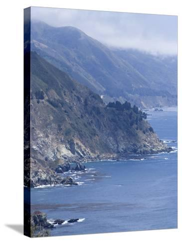 Coastline and Highway 1, Big Sur, California, United States of America, North America-Ethel Davies-Stretched Canvas Print