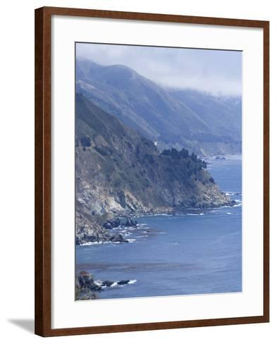 Coastline and Highway 1, Big Sur, California, United States of America, North America-Ethel Davies-Framed Art Print
