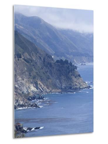 Coastline and Highway 1, Big Sur, California, United States of America, North America-Ethel Davies-Metal Print