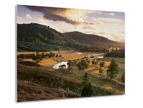 Upper Dee Valley Near Inverey, Deeside, Aberdeenshire, Scotland, United Kingdom, Europe-Patrick Dieudonne-Metal Print