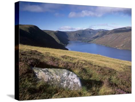 Loch Muick and Lochnagar, Near Ballater, Aberdeenshire, Scotland, United Kingdom, Europe-Patrick Dieudonne-Stretched Canvas Print