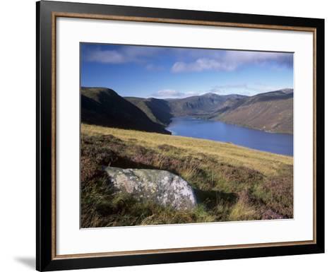 Loch Muick and Lochnagar, Near Ballater, Aberdeenshire, Scotland, United Kingdom, Europe-Patrick Dieudonne-Framed Art Print