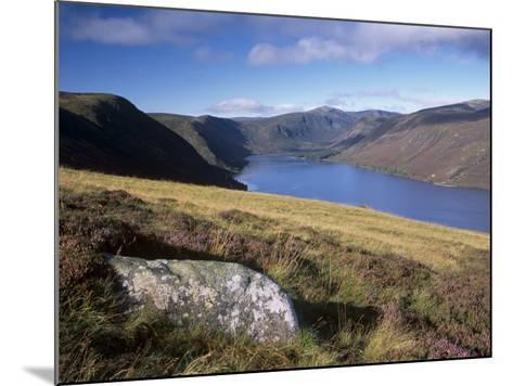 Loch Muick and Lochnagar, Near Ballater, Aberdeenshire, Scotland, United Kingdom, Europe-Patrick Dieudonne-Mounted Photographic Print