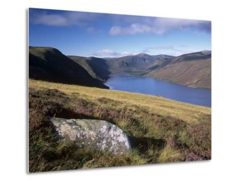Loch Muick and Lochnagar, Near Ballater, Aberdeenshire, Scotland, United Kingdom, Europe-Patrick Dieudonne-Metal Print