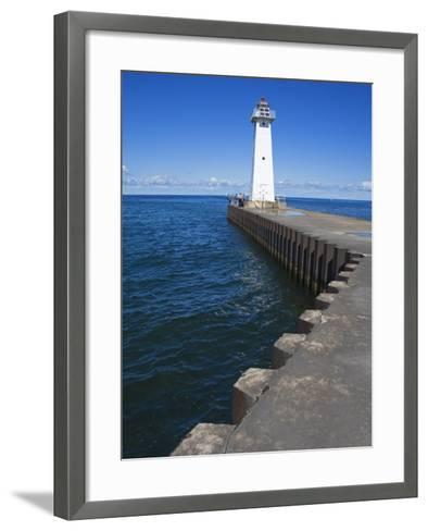 Outer Sodus Lighthouse, Greater Rochester Area, New York State, USA-Richard Cummins-Framed Art Print