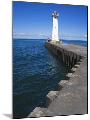 Outer Sodus Lighthouse, Greater Rochester Area, New York State, USA-Richard Cummins-Mounted Photographic Print