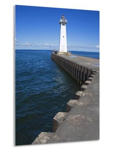 Outer Sodus Lighthouse, Greater Rochester Area, New York State, USA-Richard Cummins-Metal Print