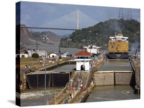 Pedro Miguel Locks, Panama Canal, Panama, Central America-Richard Cummins-Stretched Canvas Print