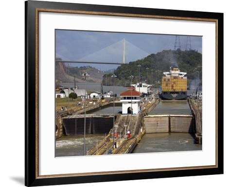 Pedro Miguel Locks, Panama Canal, Panama, Central America-Richard Cummins-Framed Art Print