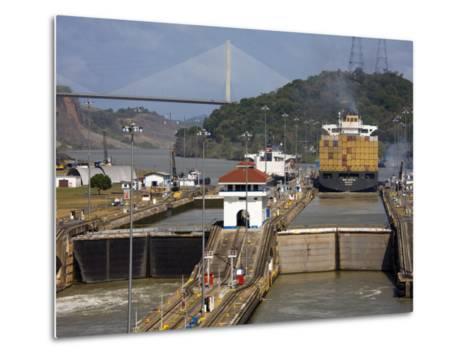 Pedro Miguel Locks, Panama Canal, Panama, Central America-Richard Cummins-Metal Print