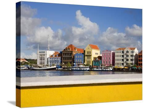 Stores on Handelskade, Punda District, Willemstad, Curacao, Netherlands Antilles, West Indies-Richard Cummins-Stretched Canvas Print