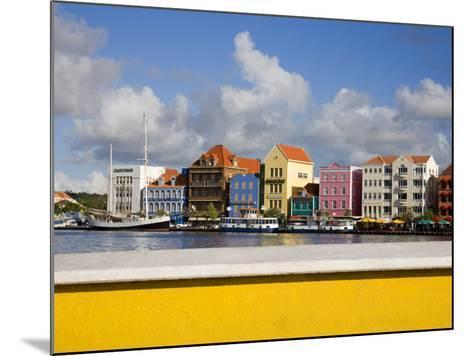 Stores on Handelskade, Punda District, Willemstad, Curacao, Netherlands Antilles, West Indies-Richard Cummins-Mounted Photographic Print
