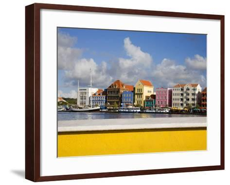 Stores on Handelskade, Punda District, Willemstad, Curacao, Netherlands Antilles, West Indies-Richard Cummins-Framed Art Print