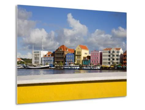 Stores on Handelskade, Punda District, Willemstad, Curacao, Netherlands Antilles, West Indies-Richard Cummins-Metal Print