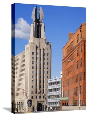 Times Square Tower, Rochester, New York State, United States of America, North America-Richard Cummins-Stretched Canvas Print