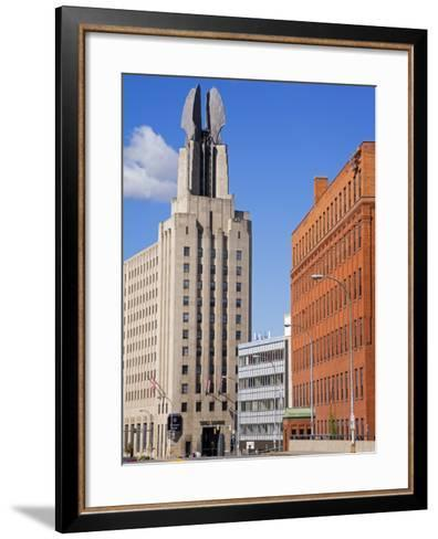 Times Square Tower, Rochester, New York State, United States of America, North America-Richard Cummins-Framed Art Print