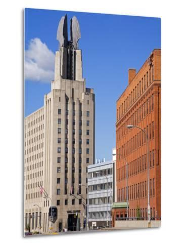 Times Square Tower, Rochester, New York State, United States of America, North America-Richard Cummins-Metal Print