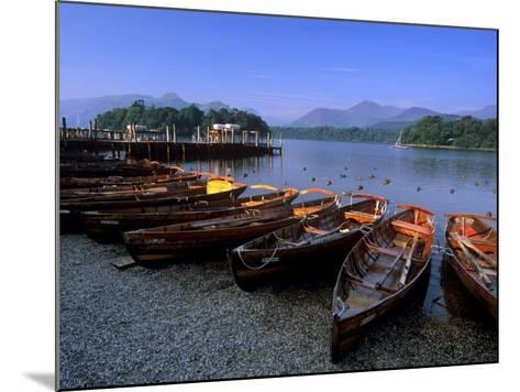 Boats on Derwent Water at Keswick, Lake District National Park, Cumbria, England, United Kingdom-Patrick Dieudonne-Mounted Photographic Print