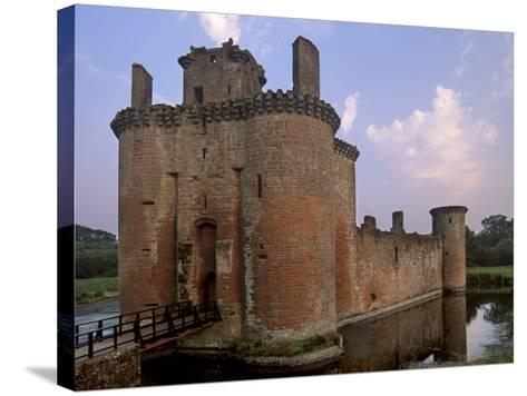 Caerlaverock Castle Dating from the 13th Century, Near Dumfries, Dumfries and Galloway, Scotland-Patrick Dieudonne-Stretched Canvas Print