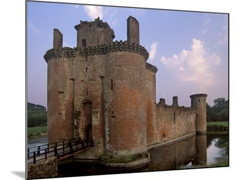 Caerlaverock Castle Dating from the 13th Century, Near Dumfries, Dumfries and Galloway, Scotland-Patrick Dieudonne-Mounted Photographic Print