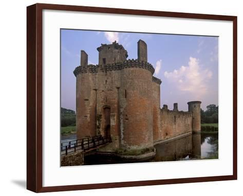 Caerlaverock Castle Dating from the 13th Century, Near Dumfries, Dumfries and Galloway, Scotland-Patrick Dieudonne-Framed Art Print