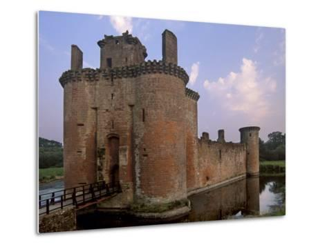 Caerlaverock Castle Dating from the 13th Century, Near Dumfries, Dumfries and Galloway, Scotland-Patrick Dieudonne-Metal Print