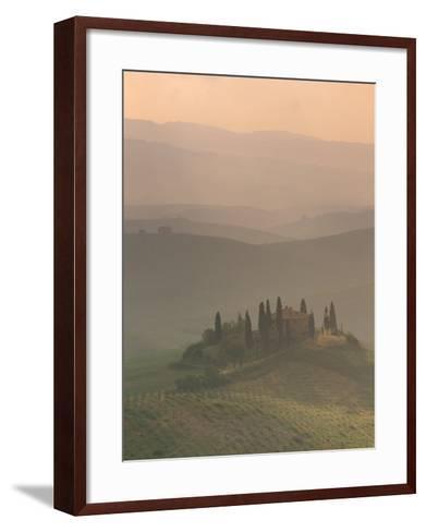 Landscape Near San Quirico D'Orcia, Tuscany, Italy, Europe-Patrick Dieudonne-Framed Art Print