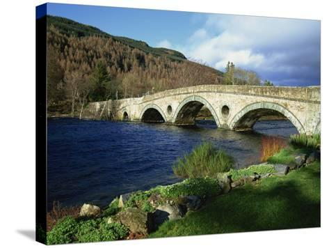 Bridges, Kenmore, Loch Tay, Scotland, United Kingdom, Europe-Ethel Davies-Stretched Canvas Print