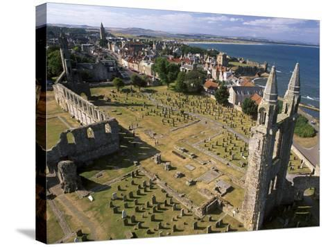 Ruins of St. Andrews Cathedral, Dating from the 14th Century, St. Andrews, Fife, Scotland-Patrick Dieudonne-Stretched Canvas Print