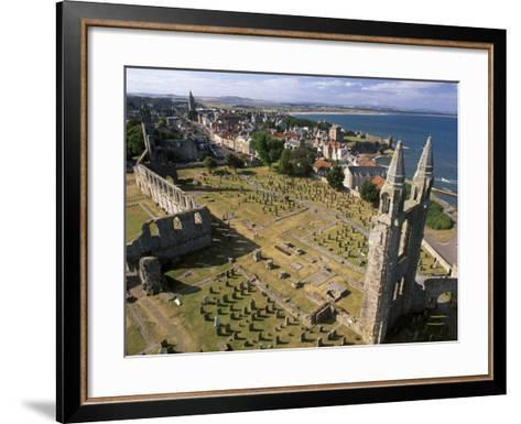 Ruins of St. Andrews Cathedral, Dating from the 14th Century, St. Andrews, Fife, Scotland-Patrick Dieudonne-Framed Art Print