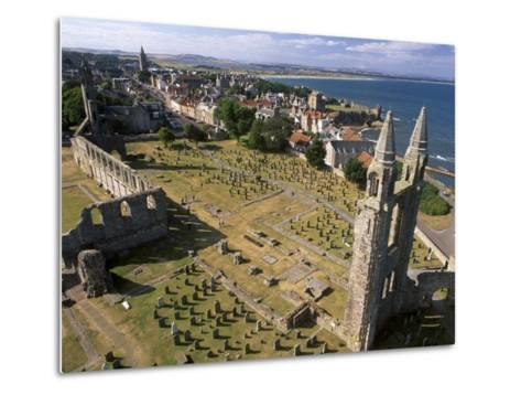 Ruins of St. Andrews Cathedral, Dating from the 14th Century, St. Andrews, Fife, Scotland-Patrick Dieudonne-Metal Print
